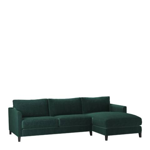 sofa.com Izzy Medium Right Hand Chaise Sofa in Spruce Vintage Chenille