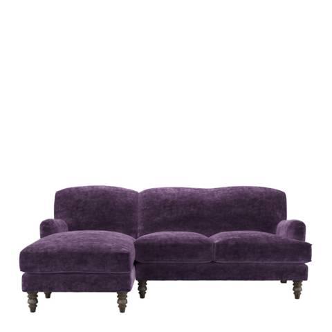 sofa.com Snowdrop Left Hand Facing Chaise Sofa in Wine Roosevelt Velvet
