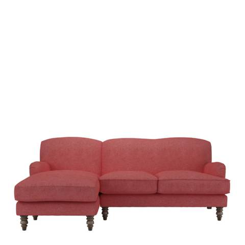 sofa.com Snowdrop Left Hand Facing Chaise Sofa in Flamingo Soft Wool