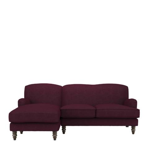sofa.com Snowdrop Left Hand Facing Chaise Sofa in Oxblood Soft Wool