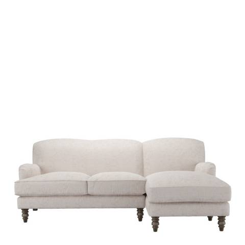 sofa.com Snowdrop Right Hand Facing Chaise Sofa in Antique Chenille- Rose Gold