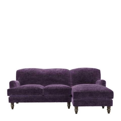 sofa.com Snowdrop Right Hand Facing Chaise Sofa in Wine Roosevelt Velvet