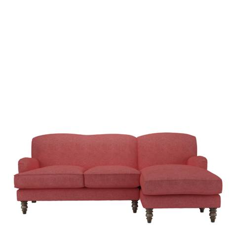 sofa.com Snowdrop Right Hand Facing Chaise Sofa in Flamingo Soft Wool