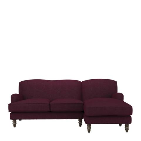 sofa.com Snowdrop Right Hand Facing Chaise Sofa in Oxblood Soft Wool