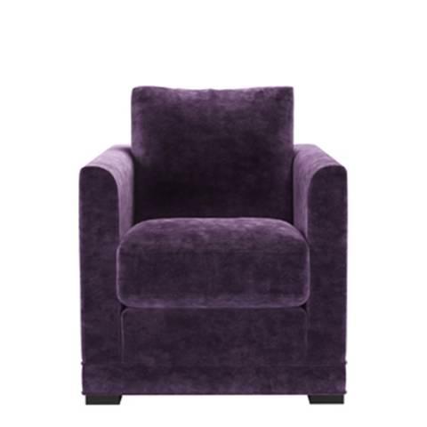 sofa.com Aissa Armchair in Wine Roosevelt Velvet