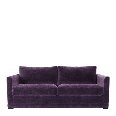 sofa.com Aissa Three Seat Sofa in Wine Roosevelt Velvet
