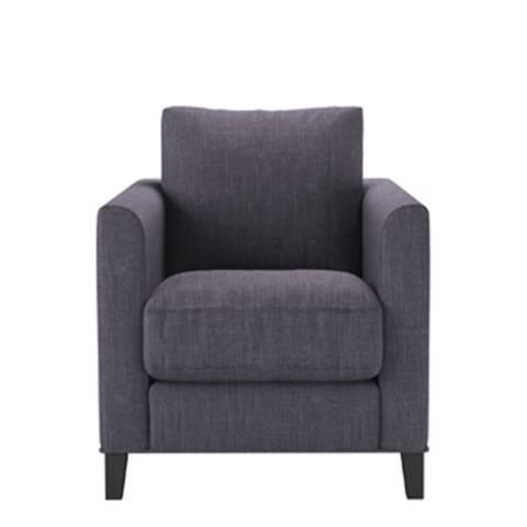 sofa.com Izzy Armchair in Mulberry Pure Belgian Linen