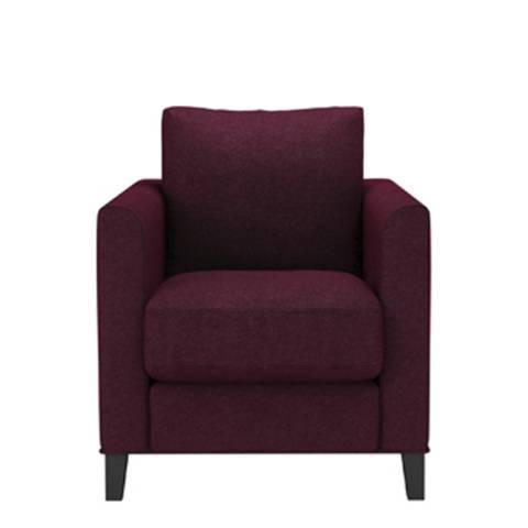 sofa.com Izzy Armchair in Oxblood Soft Wool