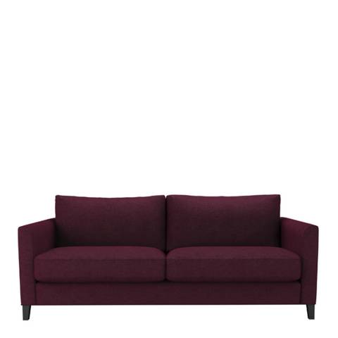 sofa.com Izzy Three Seat Sofa in Oxblood Soft Wool