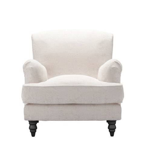 sofa.com Snowdrop Armchair in Antique Chenille- Rose Gold