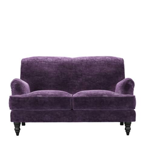 sofa.com Snowdrop Two Seat Sofa in Wine Roosevelt Velvet