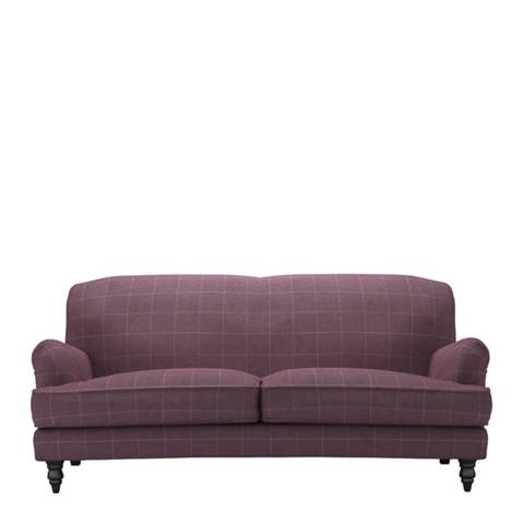 sofa.com Snowdrop Three Seat Sofa in Elderberry Celtic Check