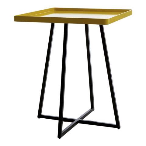 sofa.com Brando Side Table With Canary Yellow Top