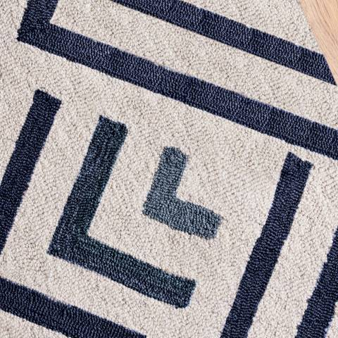 sofa.com Atlas Medium Rug in Cream and Blue