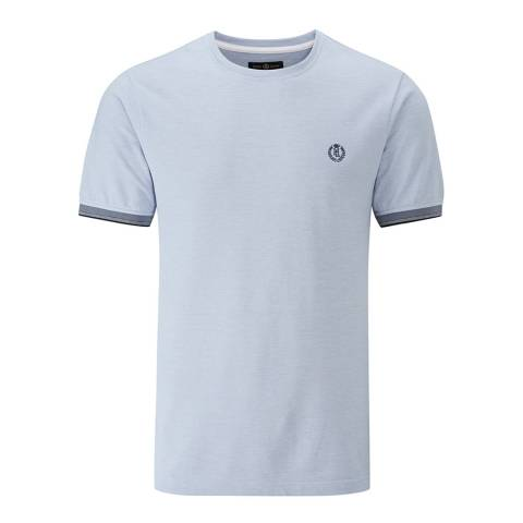 Henri Lloyd Blue Lackan Oxford Pique T-Shirt