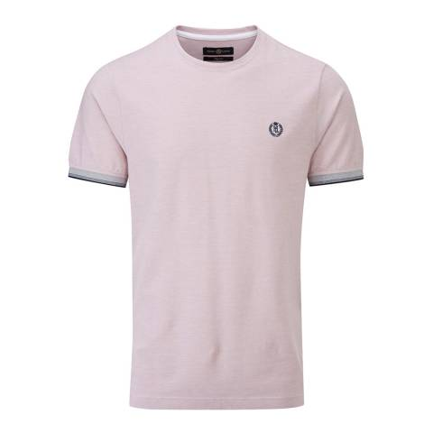 Henri Lloyd Pink Lackan Oxford Pique T-Shirt