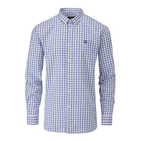 Henri Lloyd Blue/White Uton Classic Check Shirt