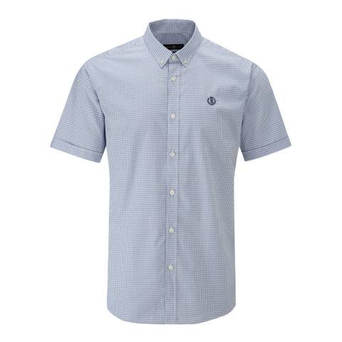 Henri Lloyd Blue/White Ragnall Gingham Reg Shirt