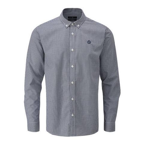 Henri Lloyd Navy/White Ragnall Gingham Regular Shirt