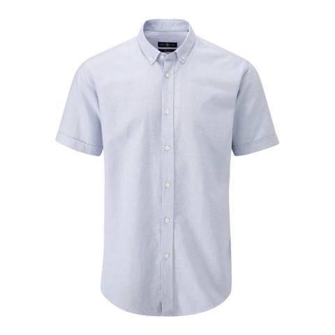 Henri Lloyd Blue Oban Linen Stripe Regular Shirt
