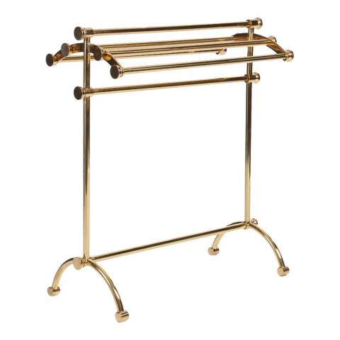 Soho Home Unlacquered Brass Willard Standing Towel Rail
