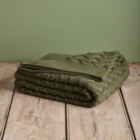 Soho Home Army Green Dundas Throw 200x140cm