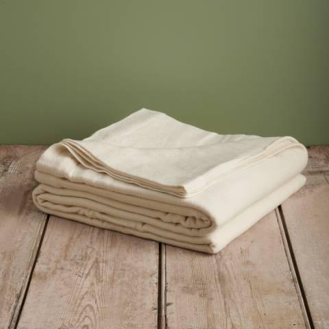 Soho Home Cream Kinsey Merino Wool Blanket 274x234cm