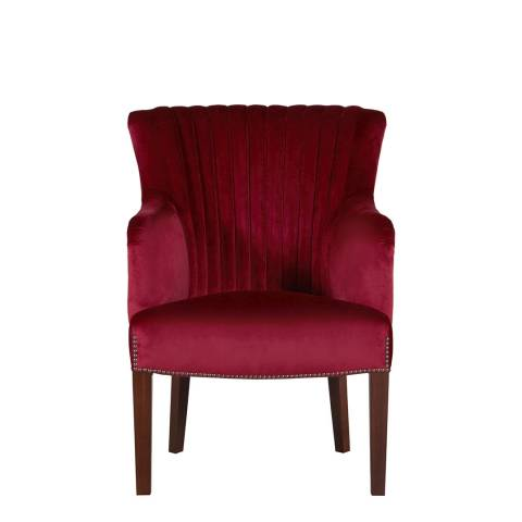 Soho Home Astor Chair, Claret Velvet