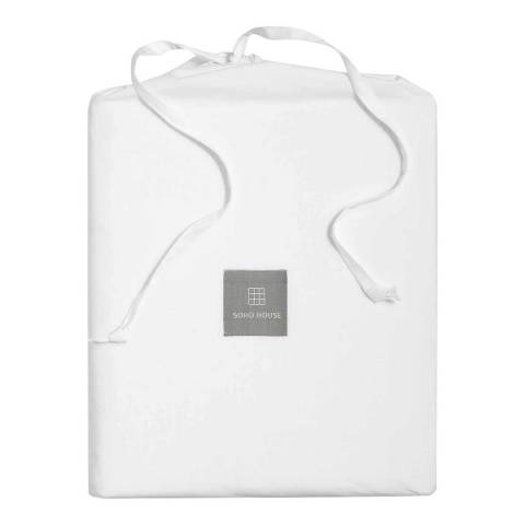 Soho Home House Double Deep Fitted Sheet, White