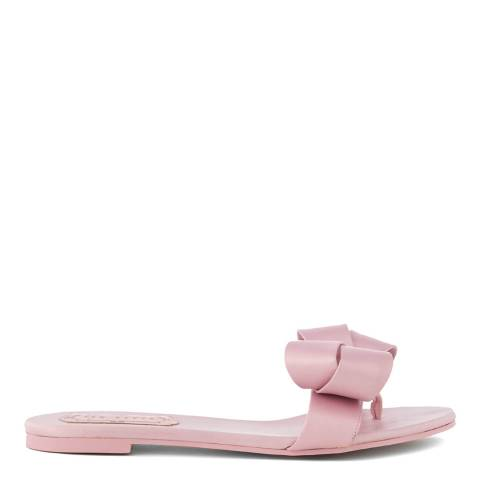 Ted Baker Pink Satin Beauita Statement Bow Sandals