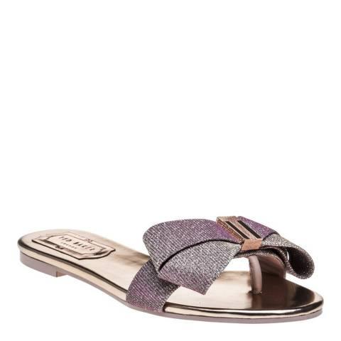 Ted Baker Rose Gold Slip On Bow Sandal
