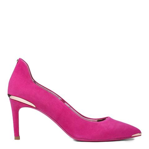 Ted Baker Pink Suede Vyixyns Stiletto Court Shoes