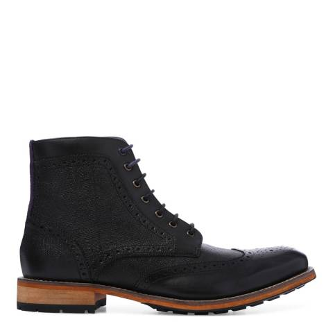 Ted Baker Black Brogue Ankle Boot