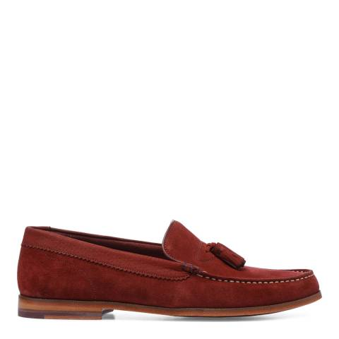 Ted Baker Dark Red Suede Dougge Classic Tassel Loafers