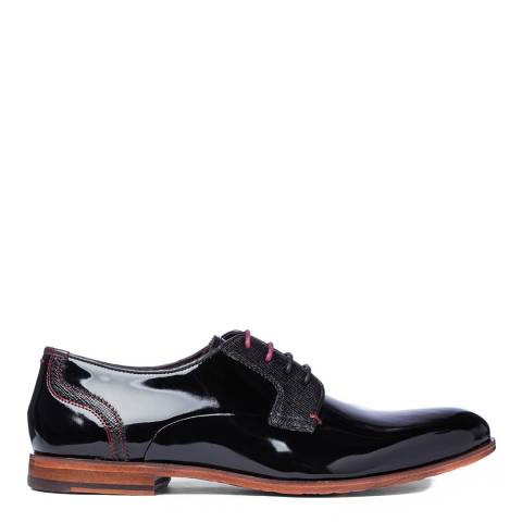 Ted Baker Black Patent Leather Irontp Derby Shoes