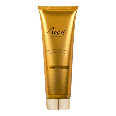 Aqua Mineral Velvet Touch Hand & Body Lotion Gold Charm