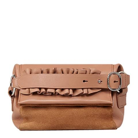 AllSaints Light Caramel Maya Soft Clutch Bag