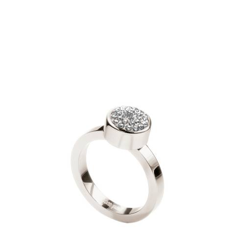 Folli Follie Silver Circular Crystal Stone Ring
