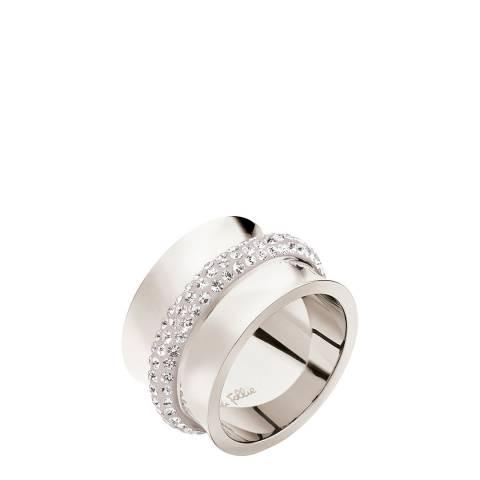 Folli Follie Silver Glittering Stone Ring