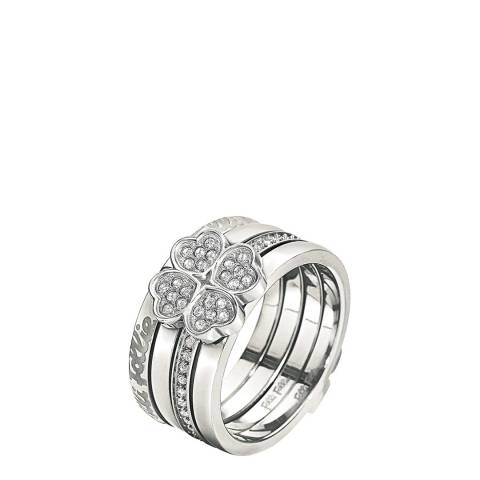 Folli Follie Silver Plated Eternal Heart Ring
