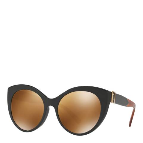 Burberry Women's Black Cat Eye Burberry Sunglasses