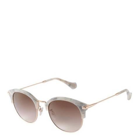 Balenciaga Marble Effect/Brown Women's Balenciaga Sunglasses