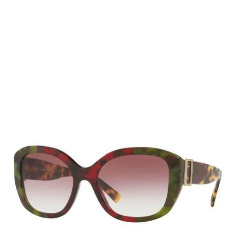 Burberry Women's Tortoise/Green/Red Burberry Sunglasses