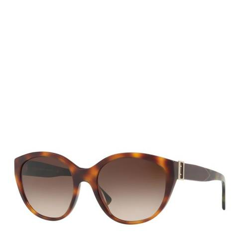 Burberry Women's Brown Tortoise Burberry Sunglasses