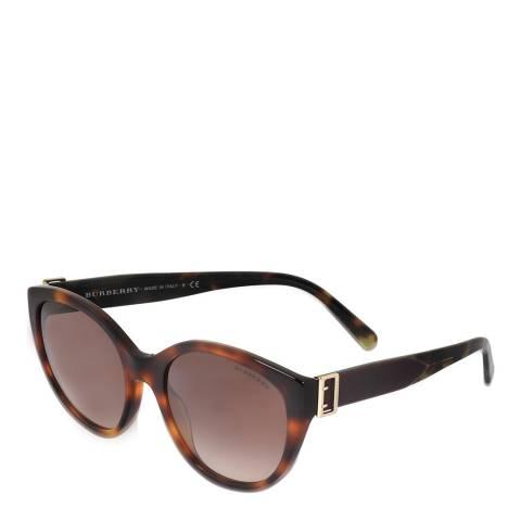 Burberry Women's Red/Leopard Burberry Sunglasses