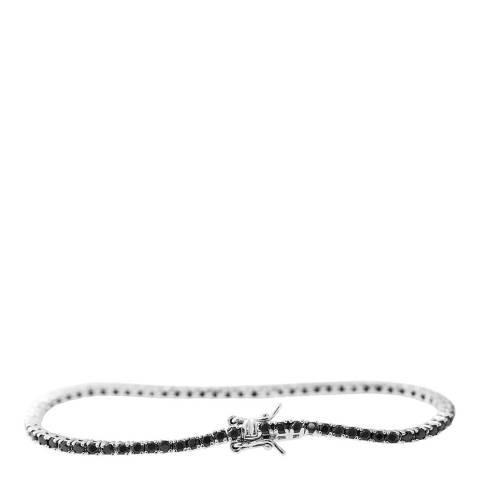 Wish List SIlver/Black Bracelet
