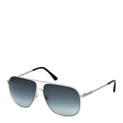 Tom Ford Men's Silver and Black Dominic Sunglasses 58mm
