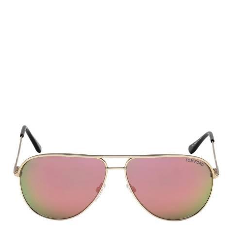 Tom Ford Men's Matte Rose Gold Erin Sunglasses 59mm