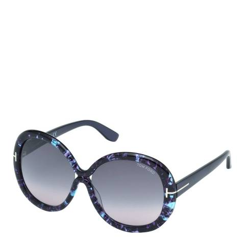 Tom Ford Women's Purple with Marble Effect Giselle Sunglasses 58mm