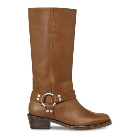 AllSaints Tan FAYE Long boots